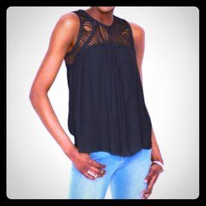 94eaabe8075c4 50% off Bar III Tops Womens Off Shoulder Crisscross Black Top